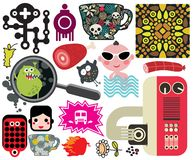 Mix of different vector images. vol.59 Stock Images
