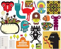 Mix of different vector images. vol.60. Mix of different vector images and icons Stock Image