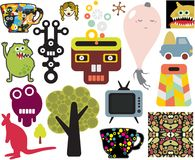 Mix of different vector images. vol.63 Royalty Free Stock Image