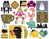 Mix of different vector images. vol.65. Mix of different vector images and icons Vector Illustration