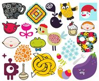 Mix of different vector images. vol.69 Royalty Free Stock Photos