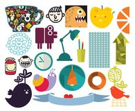 Mix of different vector images. vol.72 Stock Photos