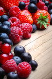 Mix of differrerent berrie stock photography