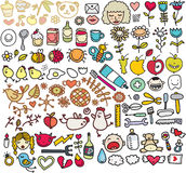 Mix of doodle images. vol. 5 Royalty Free Stock Images