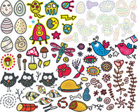 Mix of doodle images. vol. 6 Stock Photo