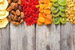 Mix of dried and candied fruit royalty free stock image