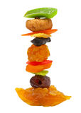 Mix dried fruit isolated Royalty Free Stock Image