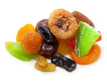 Mix dried fruit isolated Royalty Free Stock Photos
