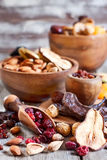 Mix of dried fruits Stock Photography