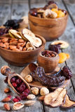 Mix of dried fruits Royalty Free Stock Images
