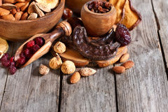 Mix of dried fruits Royalty Free Stock Photos