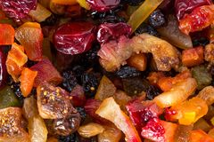 Mix of dried fruits. Stock Images