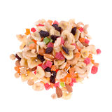 Mix of dried fruits and nuts Stock Images