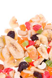 Mix of dried fruits and nuts Stock Photography