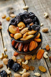Mix of dried fruits and nuts Royalty Free Stock Photo