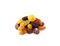 Mix dried fruits  on white background Stock Photo