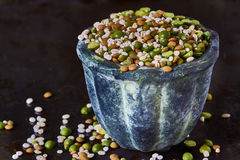 Mix of dried legumes and cereals Royalty Free Stock Image