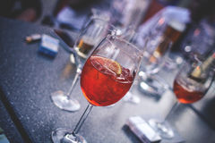 Mix drinks With Aperol Spritz.  royalty free stock photography