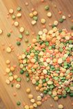 Mix of dry peas Royalty Free Stock Photo