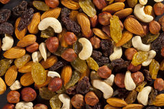 Mix of dry nuts Stock Image