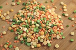 Mix of dry peas Royalty Free Stock Photography