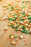 Mix of dry peas Royalty Free Stock Image
