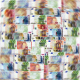Mix of Euro banknotes. Background Royalty Free Stock Images