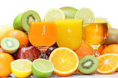 Mix of exotic fresh fruits Stock Photo