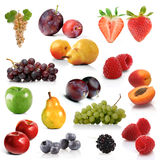 Mix of exotic fruits on white background Stock Photo