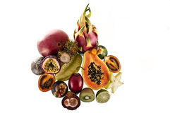 Mix of exotic's fruits. Stock Image
