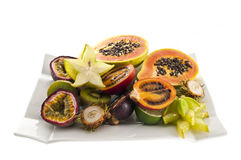 Mix of exotic's fruits. Stock Photos