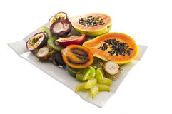 Mix of exotic's fruits. Royalty Free Stock Image