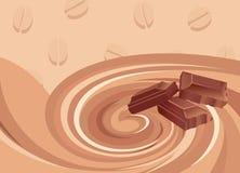 mix för frukostchokladkaffe vektor illustrationer
