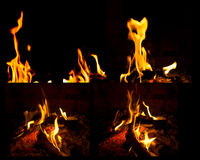 Mix Fire flames Stock Photo