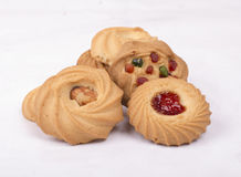 Mix flavor & dry fruits bakery biscuits image Royalty Free Stock Photography