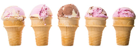 Mix Flavored Ice Cream IV Stock Image