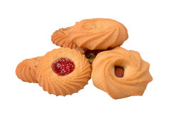 Mix flavour bakery biscuits set image Stock Photos