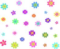 Mix of Flowers of Different Sizes and Shapes Stock Photos
