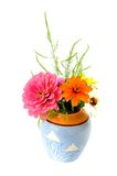 Mix flowers vase Royalty Free Stock Photos