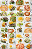Mix of food served in restaurant Stock Images