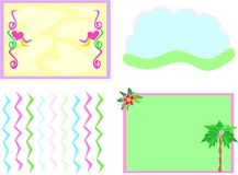 Mix of Four Backgrounds Royalty Free Stock Images
