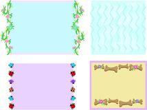 Mix of Frames with Flowers, Designs, Ladybugs, and Royalty Free Stock Image