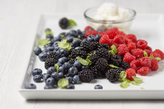 Mix of fresh berries Stock Photo
