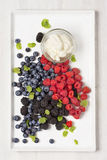 Mix of fresh berries Royalty Free Stock Photos