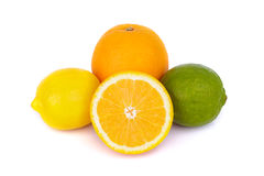 Mix of fresh citrus fruits Stock Photo