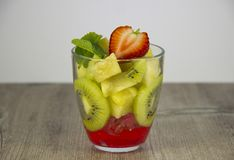 Mix of fresh fruit and berries. royalty free stock photography