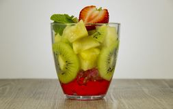 Mix of fresh fruit and berries. royalty free stock photo