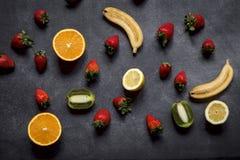 Mix of fresh fruits royalty free stock photos
