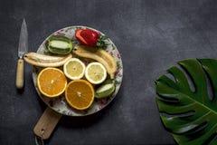 Mix of fresh fruits stock image