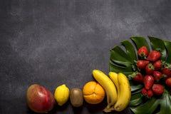 Mix of fresh fruits royalty free stock image